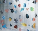 Шторка для ванной (винил) - FISH многоцветный 0