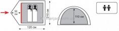 Палатка TOTEM Trek  (двухслойная) вместимостью 2 0