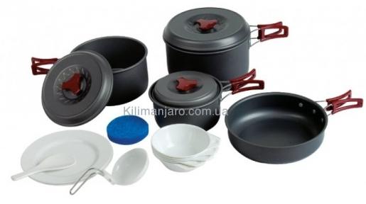 Набор посуды из анодированного алюминия на 4-5 персон Tramp TRC-026