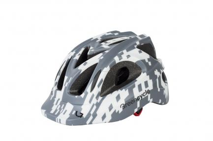 Шлем Green Cycle SPACE INVADER серо-белый, размер 54-58 см