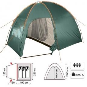 Палатка TOTEM Apache вместительностью 3