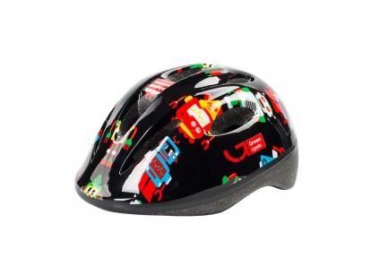 Шлем детский Green Cycle ROBOTS черный, размер 50-54 см