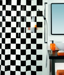 Шторка для ванной (винил) - MATTO черный