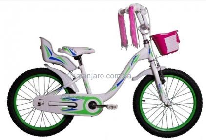 Велосипед VNC 16 Melany, 1617-FS-GW, 22 см зелено-белый