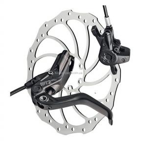 Тормоз дисковый гидравлический Magura MT2,  крепления тормоза Post Mount 6\, ротор Storm 203 мм