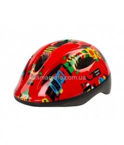 Шлем детский Green Cycle ROBOTS красный, размер 50-54 см