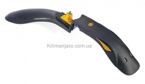 Крыло переднее 24-29 SIMPLA Hammer SDF черное с желтыми вставками