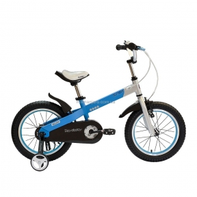 Велосипед RoyalBaby BUTTONS 12, бело-синий