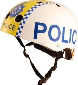 Шлем детский Kiddi Moto полиция, белый