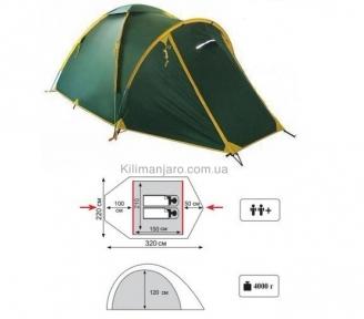 Универсальная палатка Tramp Space 2