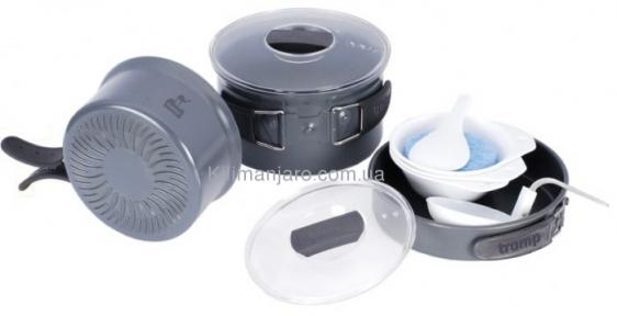 Набор посуды из анодированного алюминия  с рифлёным дном Tramp TRC-034
