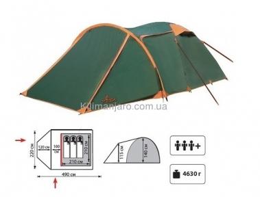 Палатка TOTEM Carriage вместимостью 3+