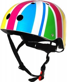 Шлем детский Kiddi Moto британский флаг в цветах радуги