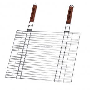 Двойная хромированная решетка  Кемпинг ZDBQ75/CMG970