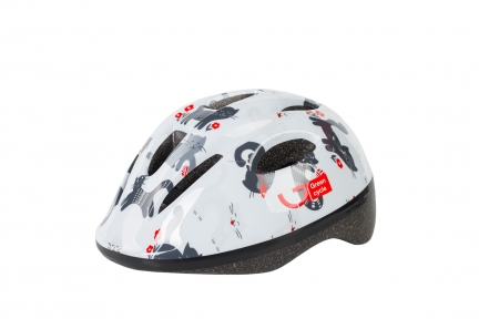 Шлем детский Green Cycle KITTY белый, размер 50-54 см