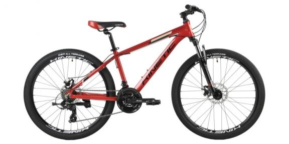 Велосипед подростковый  Kinetic PROFI 26 красный металлик 2021