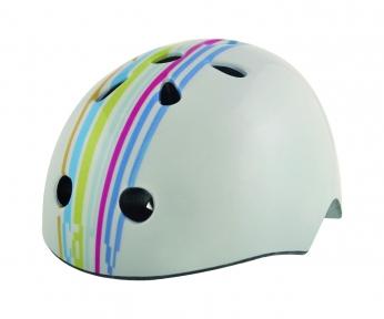 Шлем детский BELLELLI STRIPS (граффити белый)