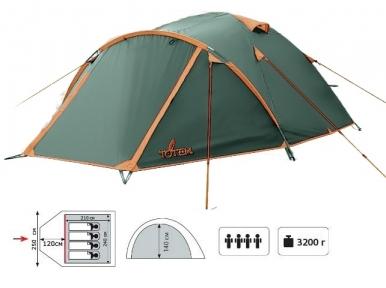 Палатка TOTEM Chinook (однослойная) вместимостью 4
