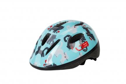 Шлем детский Green Cycle KITTY мятный, размер 50-54 см