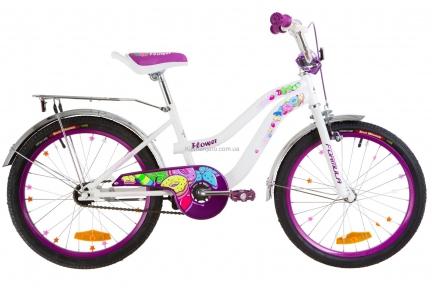 Велосипед 20 Formula FLOWER бело-фиолетовый 2019