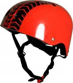 Шлем детский Kiddi Moto с рисунком протектора, красный