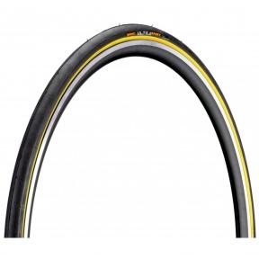 Покрышка Continental Ultra Sport II, 28, 700x23C, 23-622, Wire, PureGrip, Performance, Skin, черно-желтый