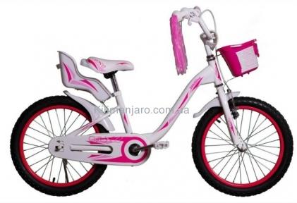 Велосипед VNC 20 Melany, 2017-FS-WP 26см розово-белый