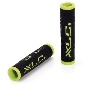 Грипсы 'Dual Colour' XLC GR-G07, черно-зеленые