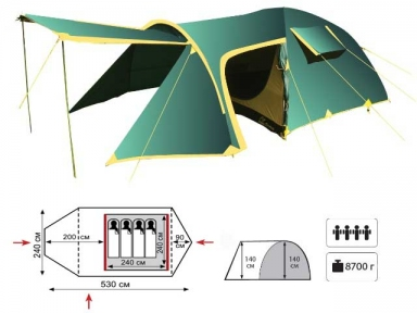 Универсальная палатка Tramp Grot-B