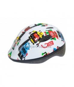 Шлем детский Green Cycle ROBOTS белый, р. 50-54 см