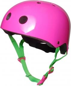 Шлем детский Kiddi Moto неоновый розовый