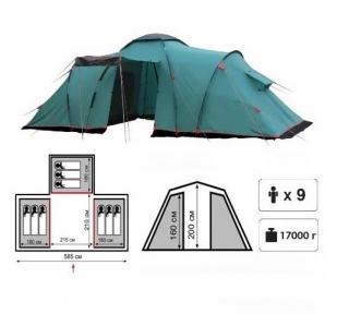 Кемпинговая палатка Tramp Brest  9