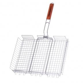 Двойная  хромированная решетка-корзина   Кемпинг BQ-61