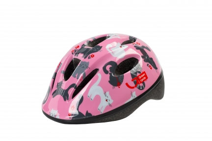 Шлем детский Green Cycle KITTY розовый, размер 50-54 см