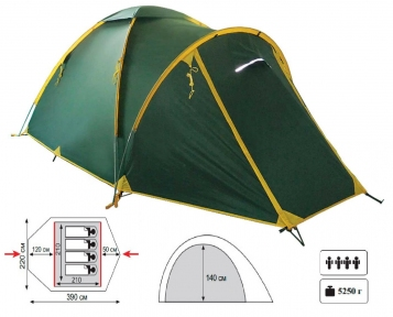 Универсальная палатка Tramp Space 4