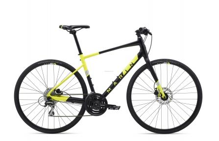 Велосипед 28 Marin FAIRFAX 2 2020 Satin Black/Gloss Hi-Vis Yellow/ Silver