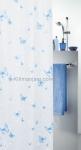 Шторка для ванной (винил) - BUTTERFLY голубой