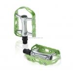 Педали XLC PD-M15, 241 гр, серебристо-зеленые