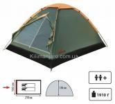Палатка TOTEM Summer (однослойная) вместимостью 2