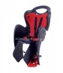 Сиденье задние (детское велокресло) Bellelli MR FOX Standart B-Fix до 22 кг, серое с красной подкладкой