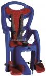 Сиденье задние (детское велокресло) Bellelli PEPE Standart Multifix до 22 кг, синее с красной подкладкой