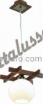 Люстра Altalusse INL-3089P-01 Antique brass & Walnut