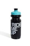 Фляга 600ml Green Cycle Ride Me Up с Big Flow valve, LDPI black nipple/ light blue matt cap/ black bottle