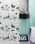 Шторка для ванной (винил) - ZEBI черный