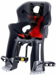 Сиденье переднее (детское велокресло) Bellelli RABBIT Handlefix до 15 кг, серое с красной подкладкой