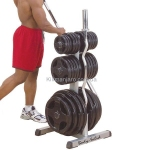Стойка под диски и грифы Body-Solid Olympic Plate Tree Bar Holder