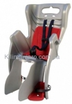 Сиденье заднее (детское велокресло) Bellelli LITTLE DUCK Standart до 22 кг, серое с красной подкладкой