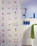 Шторка для ванной (винил) - LINUS многоцветный