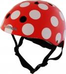 Шлем детский Kiddi Moto красный в белый горошек