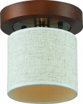 Потолочный светильник Altalusse INL-3094C-01 Antique Brass & Walnut
